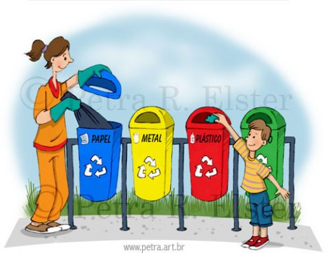 desenhos para incentivar a reciclagem lixo e coleta meio