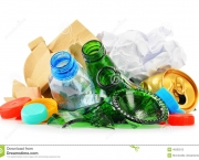 http://www.dreamstime.com/stock-photography-recyclable-garbage-consisting-glass-plastic-metal-paper-composition-white-background-image45532512