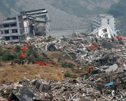 This image obtained from Twitter purportedly shows destroyed buildings on January 12, 2010 in Port-au-Prince after a huge earth quake measuring 7.0 rocked the impoverished Caribbean nation of Haiti, toppling buildings and causing widespread damage and panic, officials and AFP witnesses said.  A tsunami alert was immediately issued for the Caribbean region after the earthquake struck at 2153 GMT.     AFP PHOTO /  TWITTER      == RESTRICTED TO EDITORIAL USE / NO SALES  ==