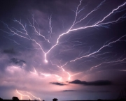 """Anvil Crawler"" lightning over eastern Norman OK on July 7th, 1994"